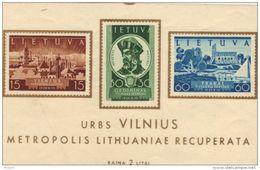 LITUANIE 1939, TIMBRES DU BLOC 2 ** MNH.  (7C27) - Lituanie