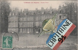 CPA SAINT SULPICE DE FAVIERES ESSONNE CHATEAU DE SEGREZ FAÇADE OUEST - Saint Sulpice De Favieres