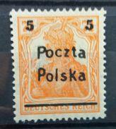 Poland 1919 MNH Poznan Issue Poczta Polska On Germania Stamp Scott 73 With Gum - Unused Stamps