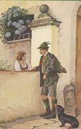 Jäger Mit Dackel, Im Vorübergehen, Künstler-Postkarte Signiert, Mailick, Alfred, Deutsches Reich - Mailick, Alfred