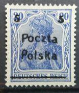 Poland 1919 MNH Poznan Issue ERROR MOVED PRINTING 0.1-0.2 Mm Poczta Polska On Germania Stamp Scott 74 With Gum - Unused Stamps