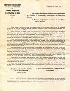 26.DROME.VALENCE.COMITE NATIONAL DE LA SERICICULTURE & GROUPEMENT D'IMPORTATION & REPARTITION DES SOIES DE LYON. - Imprimerie & Papeterie