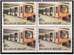 Belgium 1826** X 4  Métro  MNH - Belgium