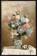 Fleurs - Bouquet Dans Un Vase - Circulé - Circulated - Gelaufen - 1914. - Fleurs, Plantes & Arbres