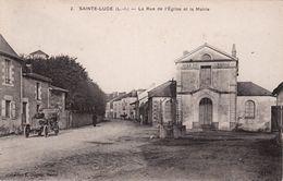 SAINTE LUCE-DP 44-221001-LA RUE DE L'EGLISE ET LA MAIRIE-ANIMEE- - Otros Municipios