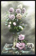 Fleurs - Oeillets Et Roses - Circulé - Circulated - Gelaufen - 1914. - Fleurs, Plantes & Arbres
