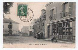 THEIX (Morbihan. 56) - Place Du Marché -animée - Magasin Vve Le Mohec - - Voyagée -  TTB - - Altri Comuni