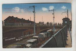 CPSM LONTZEN (Belgique-Liège) - HERBESTHAL : Brucke Uber Die Bahnstrecke Coln-Aachen-Brussel-Paris - Lontzen