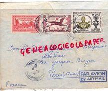 ROYAUME CAMBODGE-LETTRE AVION 1958- S.T.C.I. 20 PHLAUV KRAMUON SAR-PHNOM PENH A PARIS - Cambodia