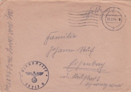 Feldpost WW2: Grenadier-Regiment 453 (Stab III) FP 36217A P/m 26.3.1944 - Cover Only. Serving 253. Infanterie-Division ( - 2. Weltkrieg