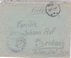 Feldpost WW2: Stab III Grenadier-Regiment 453 FP 36217A P/m 28.5.1944 - Cover Only. Serving 253. Infanterie-Division (DD - 2. Weltkrieg