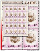 Zaire 1010** 40S  Einstein - Feuille / Sheet De 25  MNH - Zaïre