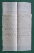 Trois Lettres Commerciales Manuscrites De La Maison A. Malé Sise Royal Hotel à Londres - Année 1887 - Royaume-Uni