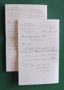 Deux Documents Commerciaux à Entête De La Maison Ridley's Sise 27 Crutched Friars à Londres - Année 1890 - Royaume-Uni