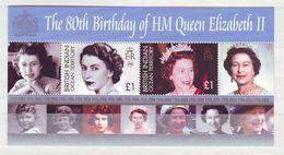 British Indian Ocean Territory 2006 The 80th Anniversary Of The Birth Of HM Queen Elizabeth II Minisheet Mint ** - Territorio Británico Del Océano Índico