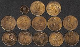 "Lot 12 Médailles ""50 Olympics 1906-1981"" Sport Foot, Hockey, Volley, Cyclisme... + Comité Olympique Belge 1978 - Belgique"