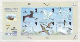 British Indian Ocean Territory 2006 BirdLife International - Barton Point Nature Reserve Minisheet Mint ** - Territorio Británico Del Océano Índico