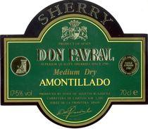 1353 - Espagne - Andalousie - Sherry Don Pavral - Medium Dry Amontillado - Hijos De Agustin Blazquez - Jerez - Etiquettes