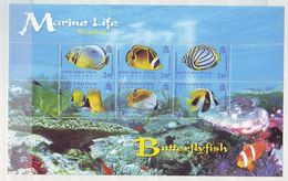 British Indian Ocean Territory 2006 Marine Life - Butterflyfish Minisheet Mint ** - Territorio Británico Del Océano Índico