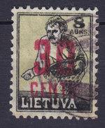 Lithuania 1922 Mi. 173    30 C. Auf 8 A Aufdruck Overprinted Used - Lituanie