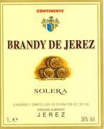 1355 - Espagne - Andalousie - Brandy De Jerez - Solera - Continente - Bodegas Almirante - Jerez - Etiquettes