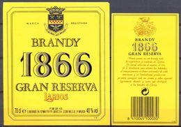 1357 - Espagne - Andalousie - Brandy 1866 - Gran Reserva - Larios - Málaga - Etiquettes