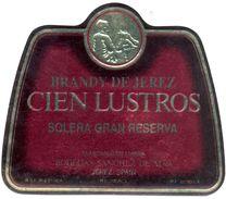 1358 - Espagne - Andalousie - Brandy De Jerez - Cien Lustros - Solera Gran Reserva - Bodegas Sanchez De Alva Jerez - Etiquettes