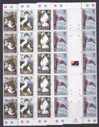South Georgia 2003 WWF/Grey Headed Albatross 4v Gutter Strip Of 5 (unfolded)  ** Mnh (F6780) - Zuid-Georgia