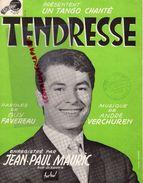 PARTITION MUSIQUE- TENDRESSE-TANGO GUY FAVEREAU-ANDRE VERCHUREN- JEAN PAUL MAURIC-CAHCTE TERRIEN LILLE - Scores & Partitions