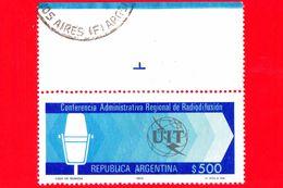ARGENTINA - Usato - 1980 - Conferenza Radioffusione - Microfono - UIT - 500 - Argentina