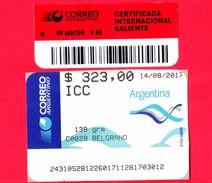 ARGENTINA - Usato - 2017 - ATM - Correo Argentino - Belgrano - 323.00 - Affrancature Meccaniche/Frama
