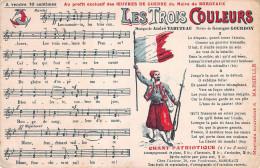 (33) Carte Pub Publicité - BORDEAUX - OEuvres De Guerre - Trois Couleurs - Chant Patriotique - Bordeaux