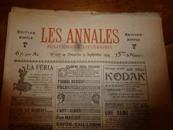 1904 Les ANNALES P&L:La Vie Des PHARES La Croix,Triagoz,Roches-Douvres,Planier,Eddystone,Grand-Léjon (Charles Le Goffic) - Journaux - Quotidiens