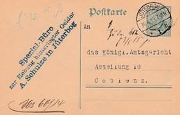 """2 X 5 Pf Cards Jüterbog To Ciblenz With """"Spezial Büro Zur Hebung Hinterlegter Gelder"""" 12/14 And 4/15. - Allemagne"""