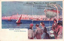 (33) Carte Pub Publicité - BORDEAUX - 5 7 Rue Duffour Dubergier - Bon Génie Ameublements Confections - Sousse Maréorama - Bordeaux