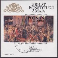 POLAND 1991 Painting Fi Blok. 98 Used - 1944-.... République