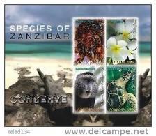 TANZANIA   2438 MINT NEVER HINGED MINI SHEET OF WILDLIFE & ANIMALS - Briefmarken