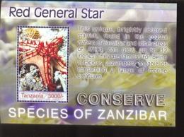 TANZANIA    2441 MINT NEVER HINGED SOUVENIR SHEET OF FISH-MARINE LIFE ; STAR FISH - Fische