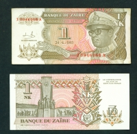 ZAIRE  -  24/06/1993  1 New Zaire  Circulated Banknote  (Clean With No Major Folds Or Creases) - Zaire