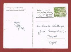 Verkeersveiligheid Sloganstempel Mehr Verantwortung Weniger Alkohol Luzern 1966 - Sonstige (Land)