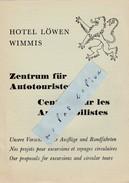 Suisse -  HOTEL LOWEN WIMMIS  -  Dépliant De 4 Pages  ( 14,8 Cm X 10,5 Cm ) - Dépliants Touristiques