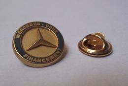 Pin's Mercedes Benz - Financement (logo Zamac Signé ATC) Diamètre: 1,6 Cm - Mercedes