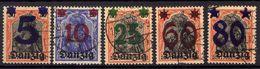 Danzig 1920 Mi 16-20, Gestempelt [020716XVII] - Danzig