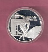 FRANKRIJK 100 FRANCS 1994 ZILVER PROOF OLYMPICS DISCUS THROWER - SPOTS ONLY ON CAPSEL - France