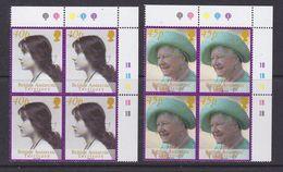 British Antarctic Territory 2002 Queen Mother 2v Bl Of 4 (corner)  ** Mnh (37018) - Brits Antarctisch Territorium  (BAT)