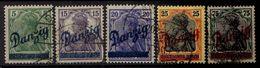 Danzig 1920 Mi 21-25, Gestempelt [070816XVII] - Danzig