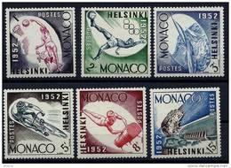 """Monaco YT 386 à 391  """"Jeux Olympiques D'Helsinski """" 1953 Neuf* - Unused Stamps"""
