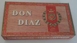 Boîte à Cigares DON DIAZ Senoritas - Boites à Tabac Vides