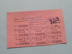 Kaart Voor VOLLE MELK / RANTSOENERINGSKAART > Antwerpen ( Zie Foto's Voor Detail AUB ) ! - Seals Of Generality