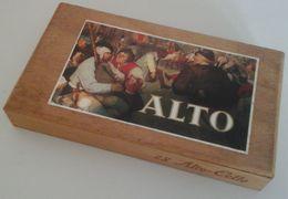 Boîte à Cigares En Bois ALTO - CELLO , Serie Brueghel - Contenitori Di Tabacco (vuoti)